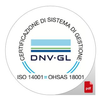 CERTIFICAZIONE AMBIENTE UNI EN ISO 14001 CERT 95589 2011 AE ITA ACCREDIA