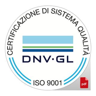 CERTIFICAZIONE QUALITA' UNI EN ISO 9001 CERT 06393 2000 AQ TRI SINCERT